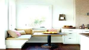 Kitchen Bench Seating White Banquette Table In L