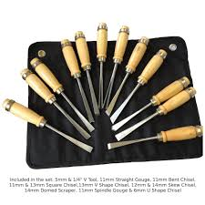 moorcut direct wood carving chisel u0026 gouge set 12pc micro set