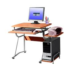 Techni Mobili Desk W Retractable Table by Office Desks And Hutches Computer Desks Organize It