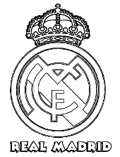 Football Player Coloring Page Real Madrid Crest Pages