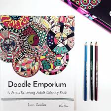 Its Been Raining And Gloomy Here Today So We Are Coloring In Our Doodle Emporium