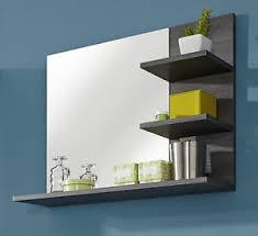 details zu badspiegel badezimmer bad spiegel sardegna grau mit regal ablage möbel miami 70