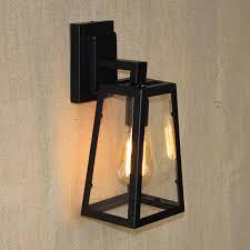 antique matte black lantern outdoor wall l sconce ac 90 260v