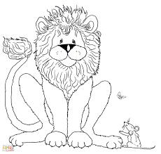 Charmingbeautiful Free The Lion And Mouse Stories Tales Coloring Pages For Kids