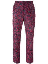 sonia rykiel silk pants sonia rykiel patterned tailored trousers