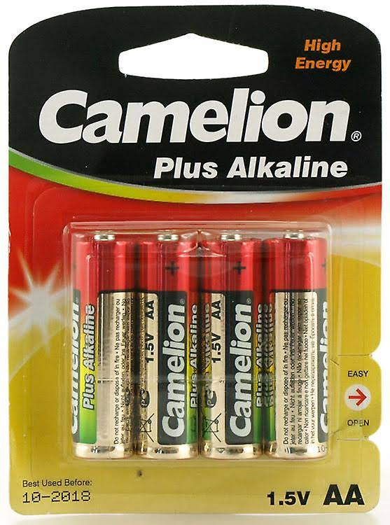 Camelion Plus Alkaline AA Batteries - 4 Pack
