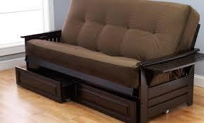 futon Waltz Futon Sofa Bed With Chaise Black Value City