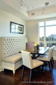 Dinning Bench High Back Dining Room Cushions Average Height