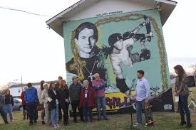 Big Ang Mural Unveiling by A Mural Honoring A Gallatin Bred Skateboarding Pioneer Could