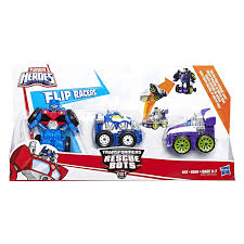 New Motorcycle Chase And Cement Mixer Salvage Toys From Rescue Bots ...