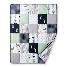 sweet jojo designs crib bedding set navy mint woodsy 11pc