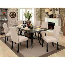 Modern Round Walnut Dining Table Glass Set Solid For ...