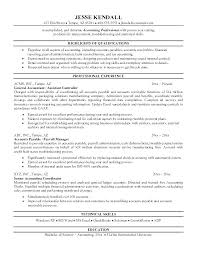 Sample Resume For Accountant Accounting Experienced Example