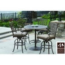 bar set outdoor aluminum patio open travel