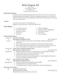Nurse Resumes Examples Operating Room Registered Resume Sample Cv Pdf Uk