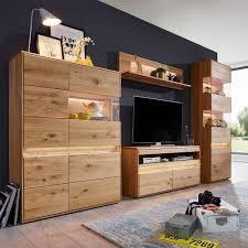 wildeiche wohnzimmer möbel wohnwand acmida 4 teilig