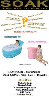 Inflatable Bathtub For Adults by Buy Foldable Bath Bucket Inflatable Bathtub Health Singapore Baby