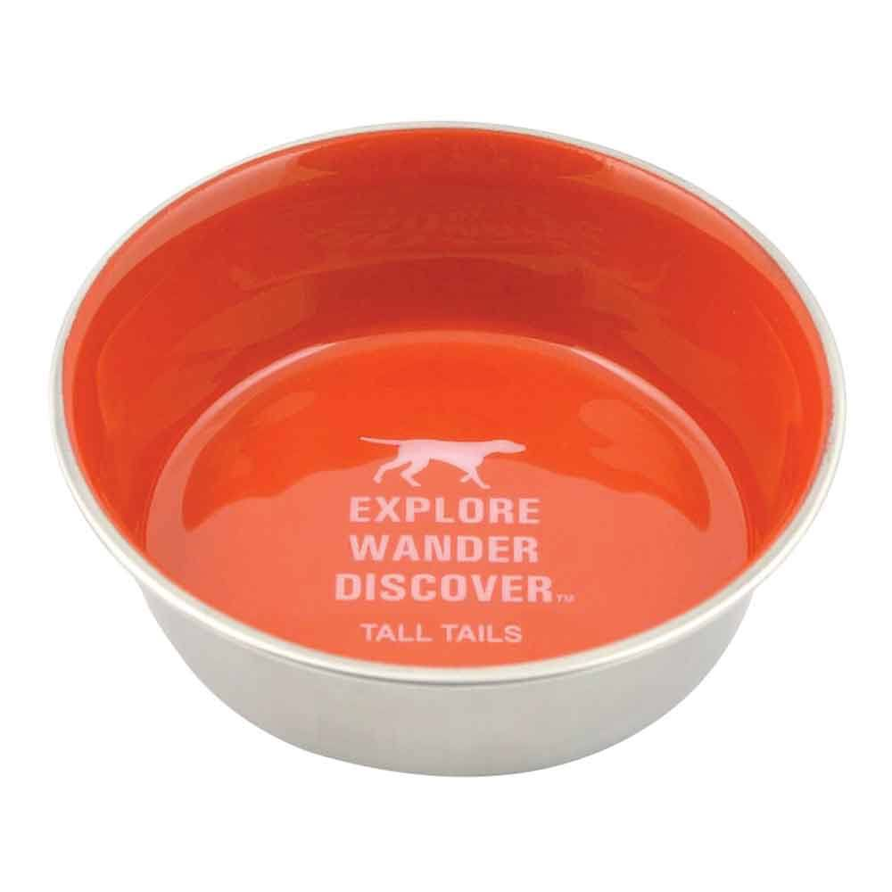 Tall Tails 88216249 Stainless Steel Dog Bowl Orange - 1.5 Cup