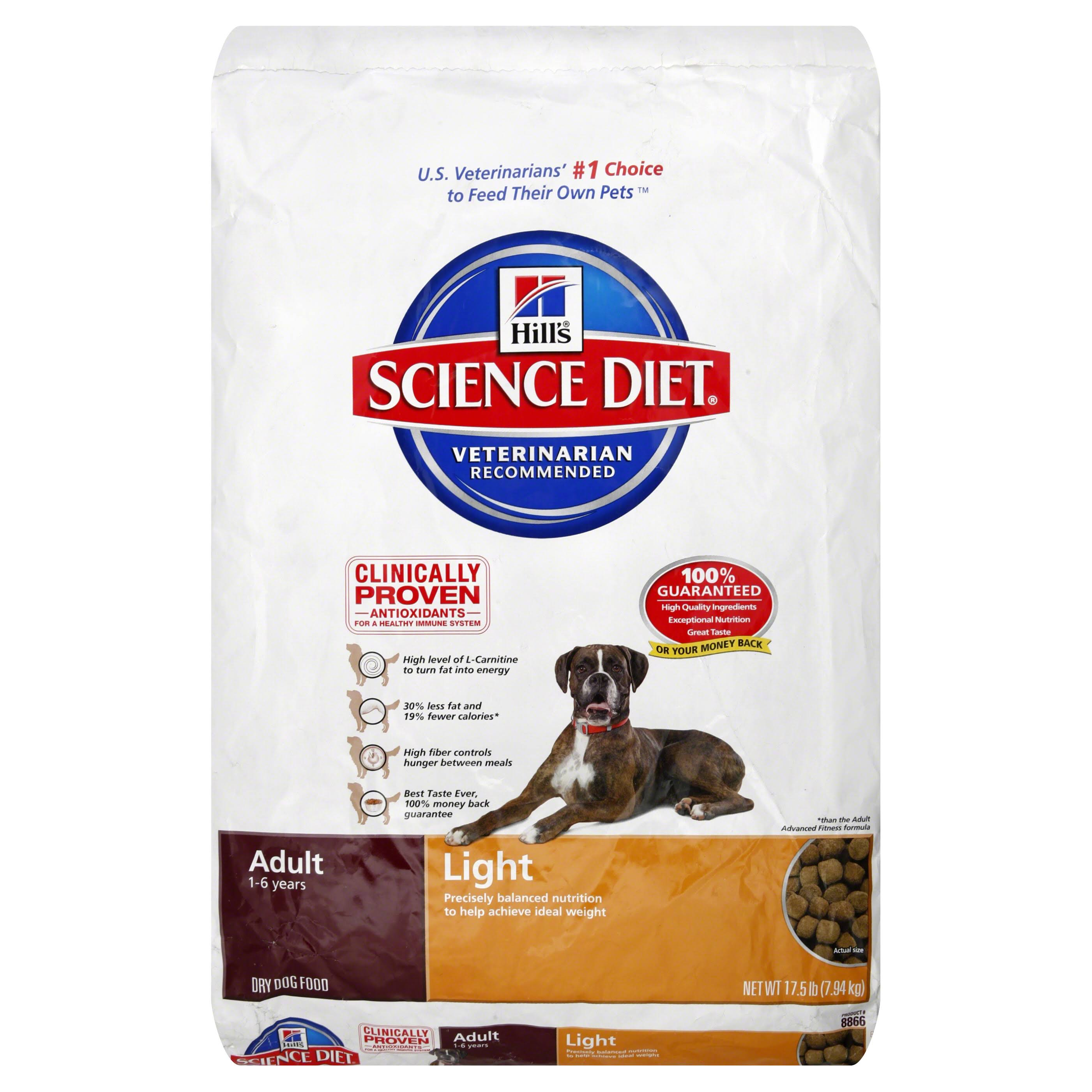 Hill's Science Diet Adult Light with Chicken Meal and Barley Dry Dog Food - 17.5lb