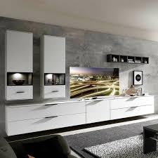 moderne wohnwand weiß