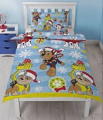 Paw Patrol Christmas Xmas Duvet Cover Quilt Cover Bedding for