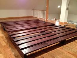 How To Make A Platform Bed From Wooden Pallets by King Size Wooden Platform Bed With Book Case Headboard Bedroom