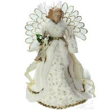 Lighted Angel In Gown Christmas Tree Topper