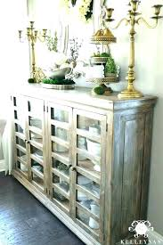 Tall Buffet Table With Storage Cabinets Best