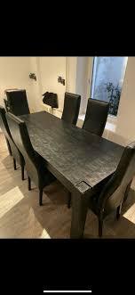 esszimmertisch esstischset tisch mit 6 stühlen kare design