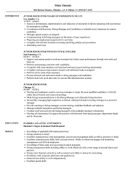 Junior Recruiter Resume Samples | Velvet Jobs Sample Resume For Recruiter Position Leonseattlebabyco College Recruiter Resume Samples Velvet Jobs 1213 Sample Cazuelasphillycom Lead Iyazam 8 Executive Mael Modern Decor Talent 1415 Of Southbeachcafesfcom 12 Things That You Never Expect On Grad 11 Template Collection Printable Technical Doc It