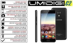 UMIDIGI C2 4G Smartphone 4GB RAM 64GB ROM BLACK 5 inch FHD 13MP Camera 4000mAh Battery