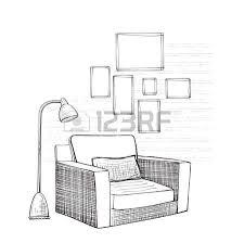 dessiner une chaise salle de croquis dessiné intérieur chaise confortable clip