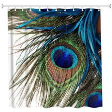 210d polyester 0 reviews 210d polyester material pfau feder polyester duschvorhang badezimmer vorhang hochauflösendes drucken 3d wasserdicht