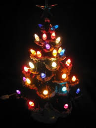 Bulbs For Ceramic Christmas Tree by 60s 70s Vintage Handmade Ceramic Christmas Tree W Plastic Bulb Lights