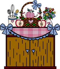 Kitchen Utensils Graphic Small Cupboard