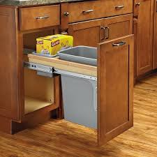 Under Cabinet Trash Can Pull Out by Diy Pull Out Cabinet Trash Can Undercounter Trash Bin With Lid 12