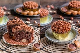 toffifee muffins mit nougat topping