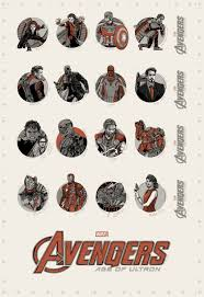 Halloween 6 Cast And Crew by Tyler Stout Avengers Age Of Ultron Cast Crew Poster Giveaway