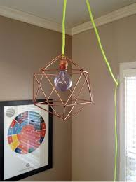 DIY Geo Pendant Light