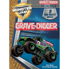 100 Gravedigger Monster Truck Grave Digger Decal Pack Jam Stickers Decalcomania