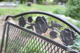 Vintage Wrought Iron Porch Furniture by Spray Paint Patio Furniture Our Vintage Wrought Iron Patio Set