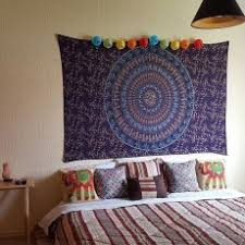 Amazing Small Wall Hanging Tapestry Royal Furnish Twin Blue Boho Chic Style Outdoor Indoor Mandala Bohemian For Kitchen Bathroom Quilt Fabric Metal