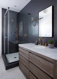 matte black bathroom style with single vanity traditional