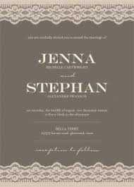 Taupe Grey And Beige Lace Wedding Invitation