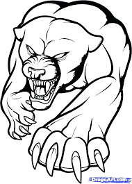 Black Panther Coloring Pages Page Panthers Football Team Pdf Colori Superhero