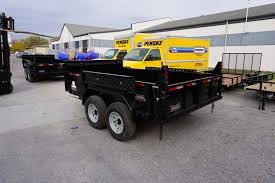 Back End Of The 6' X 12' Tandem Axle Dump Trailer For Rent [5970 ...