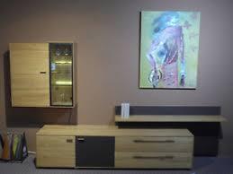 details zu natura new york wohnwand eiche massiv holz beleuchtung wohnzimmer 3 teilig