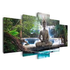 UK 5PCS Canvas Modern Picture Wall Art Decor Home Buddha Zen
