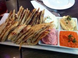 dips cuisine pitta bread with trio dips picture of kefi cuisine