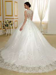designer v neck beading appliques lace ball gown wedding dress